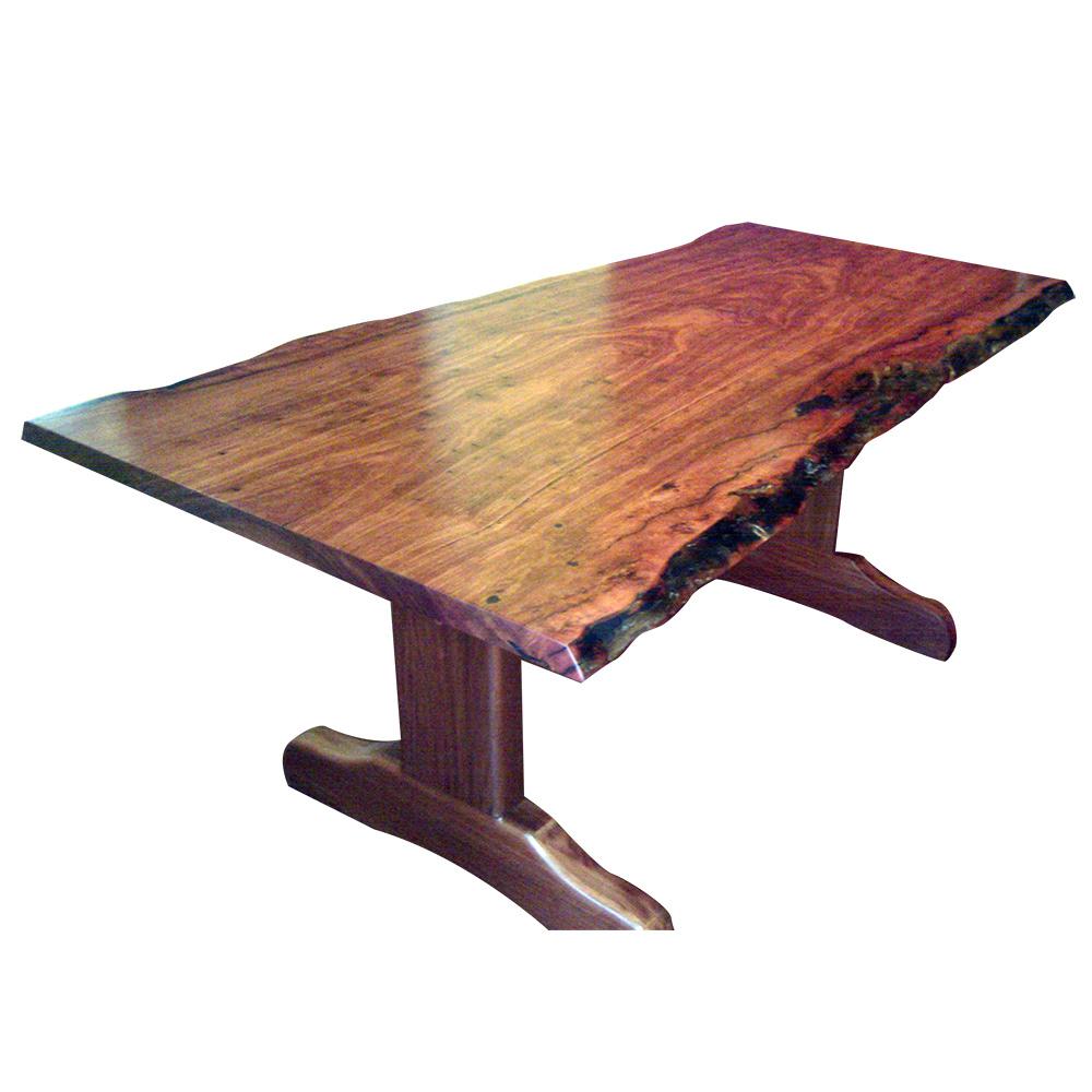 One Piece Natural Edge Jarrah Dining Table Custom Wood